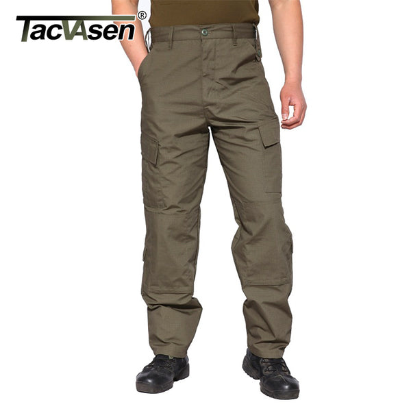 TACVASEN Tactical Pants Men Military Bdu Camouflage Paintball Cargo Pants Men Clothing Combat Army Trousers TD-WHFE-014