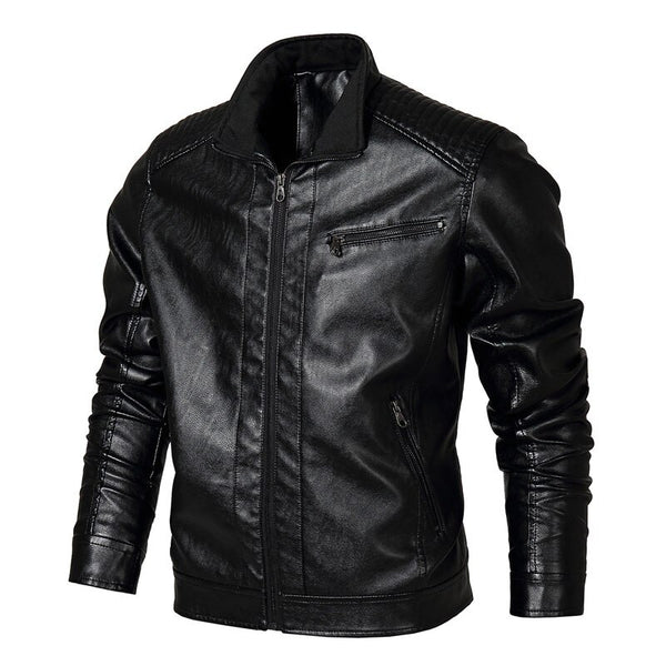 TACVASEN Winter Men Tactical PU Leather Jacket Autumn Military Bomber Jacket Army Pilot Jacket Casual Motorcycle Coat US Size