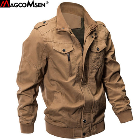 MAGCOMSEN Jacket Men Winter Military Army Pilot Bomber Jacket Tactical Man Jacket Coat Jaqueta Masculina Plus Size 6XL SSFC-14