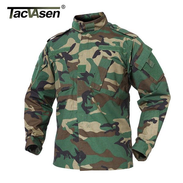 TACVASEN Men's Army Military Jacket Tactical Camouflage Jackets Multicam Paintball BDU Combat Jackets Outdoor Hunt Shoot Jackets