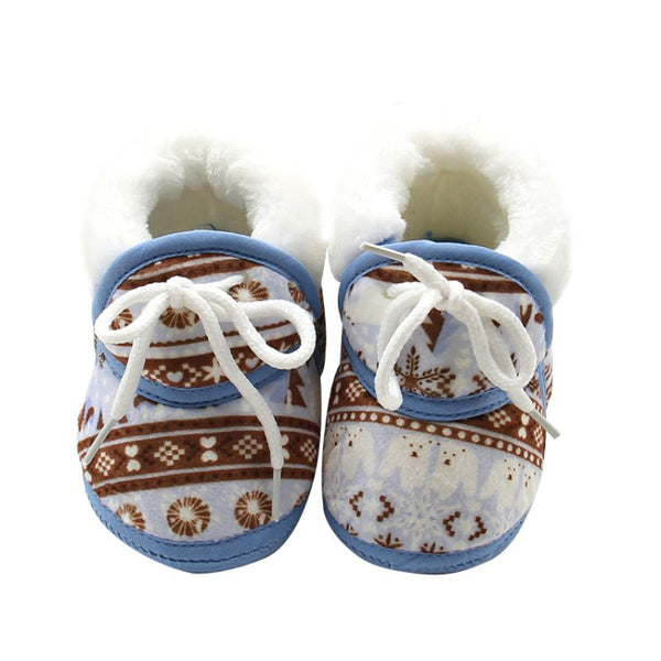 Baby Shoes for Newborns Infant Soft Soled Footwear Walking Shoes Winter Toddler Keep Warm Print First Walkers Shoes for babies
