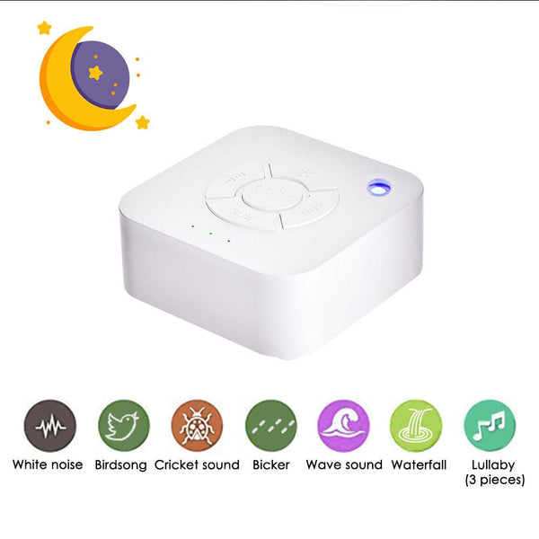 White Noise Machine USB Rechargeable Timed Shutdown Sleep Sound Machine For Sleeping & Relaxation for Baby Adult Office Travel (White)