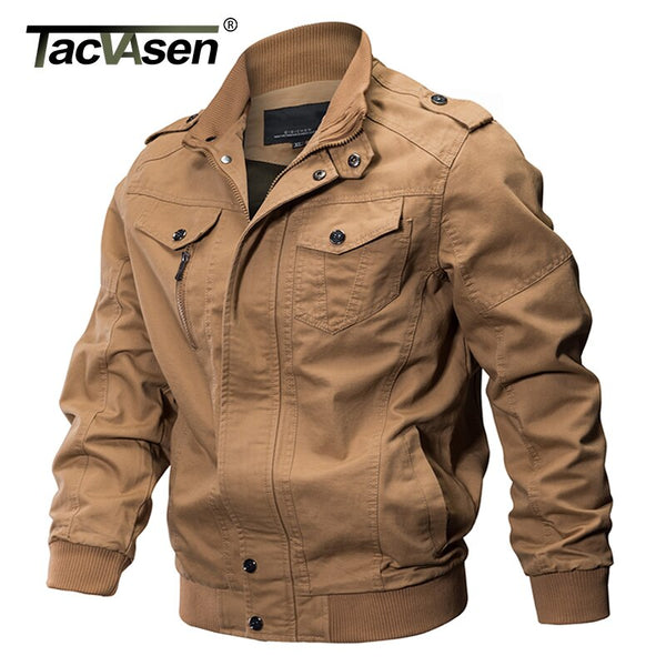 TACVASEN Military Jacket Men Winter Airsoft Jacket Coat Men Army Pilot Jacket Air Force Autumn Casual Cargo Jaqueta Workout Coat