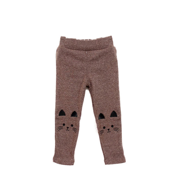 1pc Cute Toddler Baby Girls Kids Skinny Pants Cat Print Stretchy Warm Leggings New