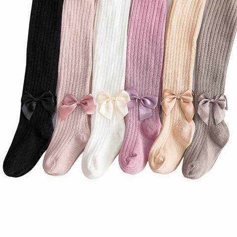 1-5Y Spring/Autumn Children Tights Cotton Baby Girl Pantyhose Kid Knitted Collant Tights Soft Infant Clothing Warm Lovely Pants