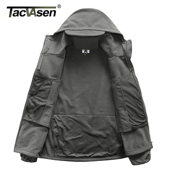 TACVASEN Winter Jacket Men Army Coat Military Tactical Fleece Jacket Waterproof Softshell Jackets Navy Windbreaker Hunt Clothes