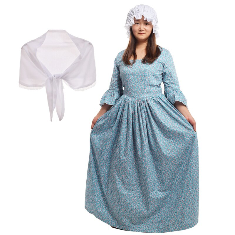 Historical Carnival Costumes Women Victorian Pioneer Pilgrim Civil War Colonial Dresses