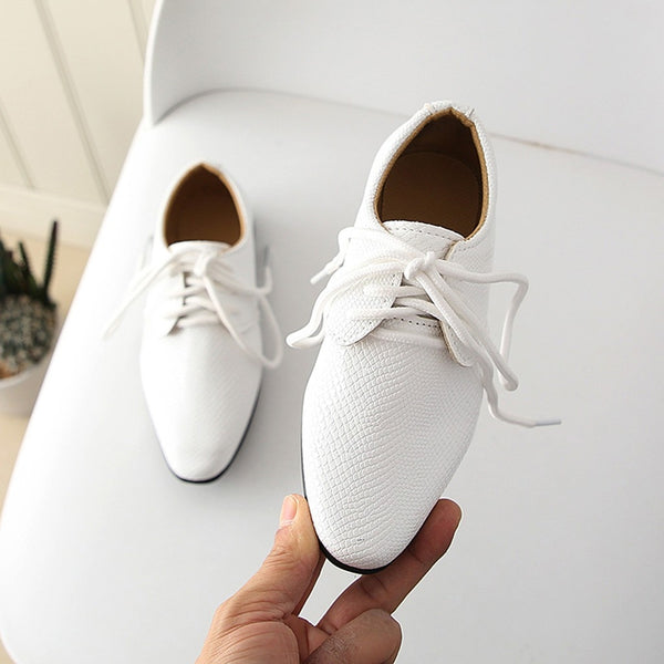2019 Kids Shoes Leather Shoes Soft Hand Feeling Children Infant Kids Baby Boys British Style Student Perform Casual Shoes
