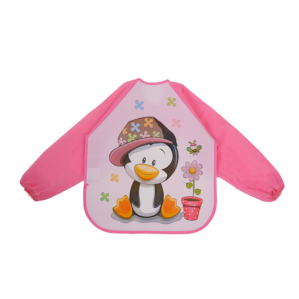 Cute Cartoon Animals Baby Bibs Waterproof Colorful Children Bib Full Sleeve Bibs Children Apron Long Sleeve Feeding Bibs