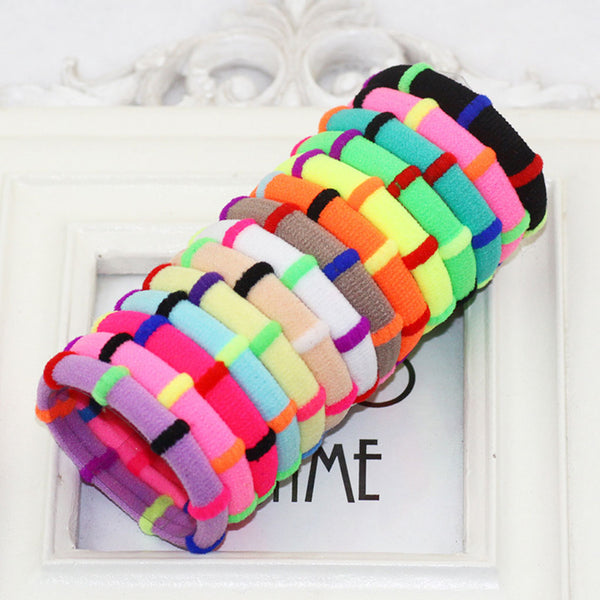 12pcs Color Random Girls Elastic Hair Bands Rubber Headbands Cute Head Decoration Accessories
