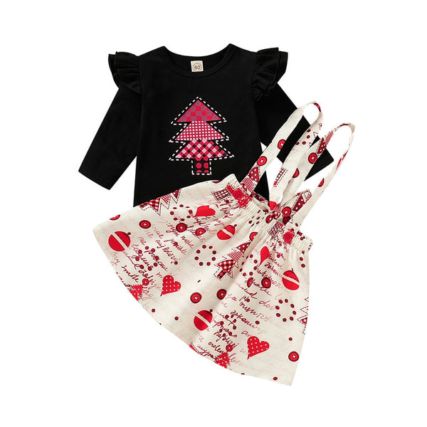Carters Baby Girl Clothes 2020 Valentine's Day Summer Newborns Outfits Bodysuit+Skirt+Knee Pads New Years Outfit Baby D40