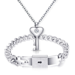 A Couple Lovers Jewelry Love Heart Lock