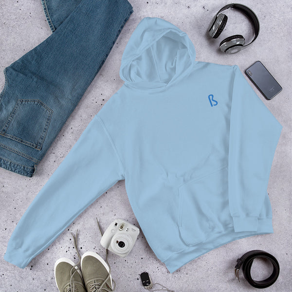 BLUE Hoodie - Embroidered
