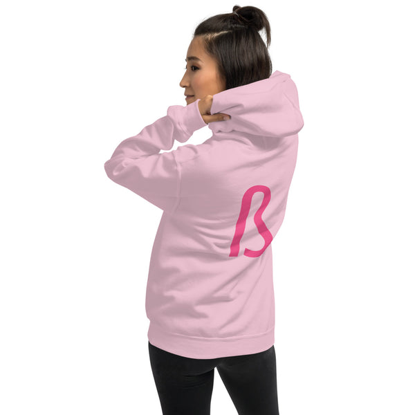 PINK B Hoodie - Embroidered
