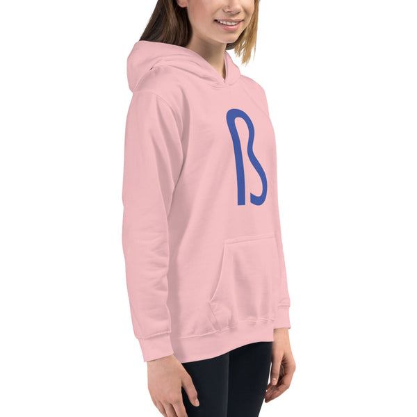 BLUE PINK Kids Hoodie - Embroidered