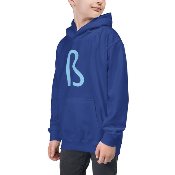 BLUE Kids Hoodie - Embroidered