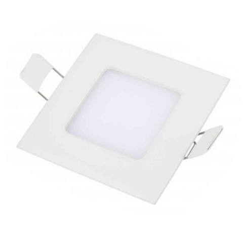 Lampara Panel LED Empotrable Cuadrada 3W
