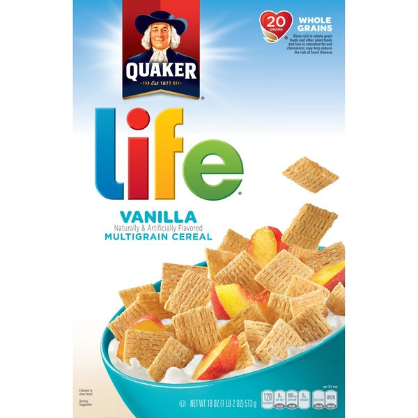 CEREAL LIFE QUAKER 18OZ CINNAMON