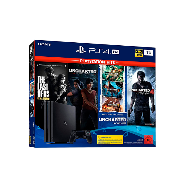 PlayStation 4 Pro 1TB Naughty Dogs Bundle The Last of Us, Uncharted