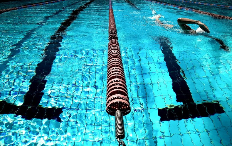 Swimming lanes in pool