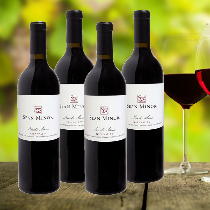 Sean Minor Nicole Marie Red Blend 4 pack