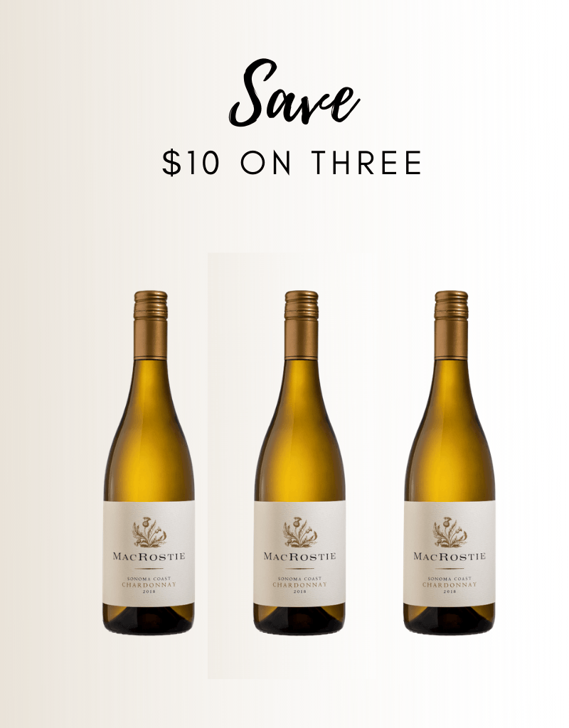 MacRostie Sonoma Coast Chardonnay 3 Pack - Gather1