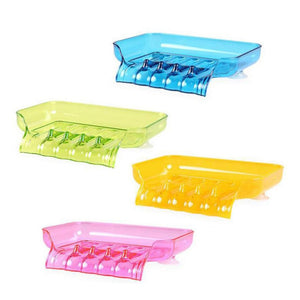 Waterfall Plastic Soap Dish Bathroom Accessories Drain Soap Box Shower Soap Holder Draining Kitchen Sink Sponge Holder