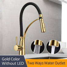 Load image into Gallery viewer, Kitchen Faucets with Rubber Design Chrome Mixer Faucet for LED Kitchen Single Handle Pull Down Deck Mounted Crane for Sinks 7661