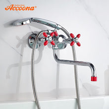 Load image into Gallery viewer, Accoona Bathtub Faucets Shower Set Shower Head Bathroom Dual Holder Dual Control Shower Bathtub Faucet Bath Faucet A7182