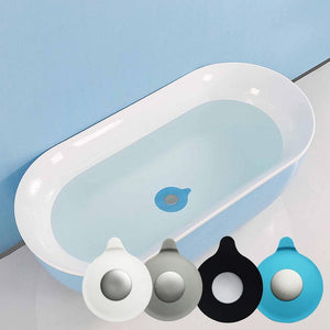 1 Pack Bathtub Drain Stopper Silicone Water Stopper Drain Plug Cover Water-drop Design For Bathroom Laundry Kitchen