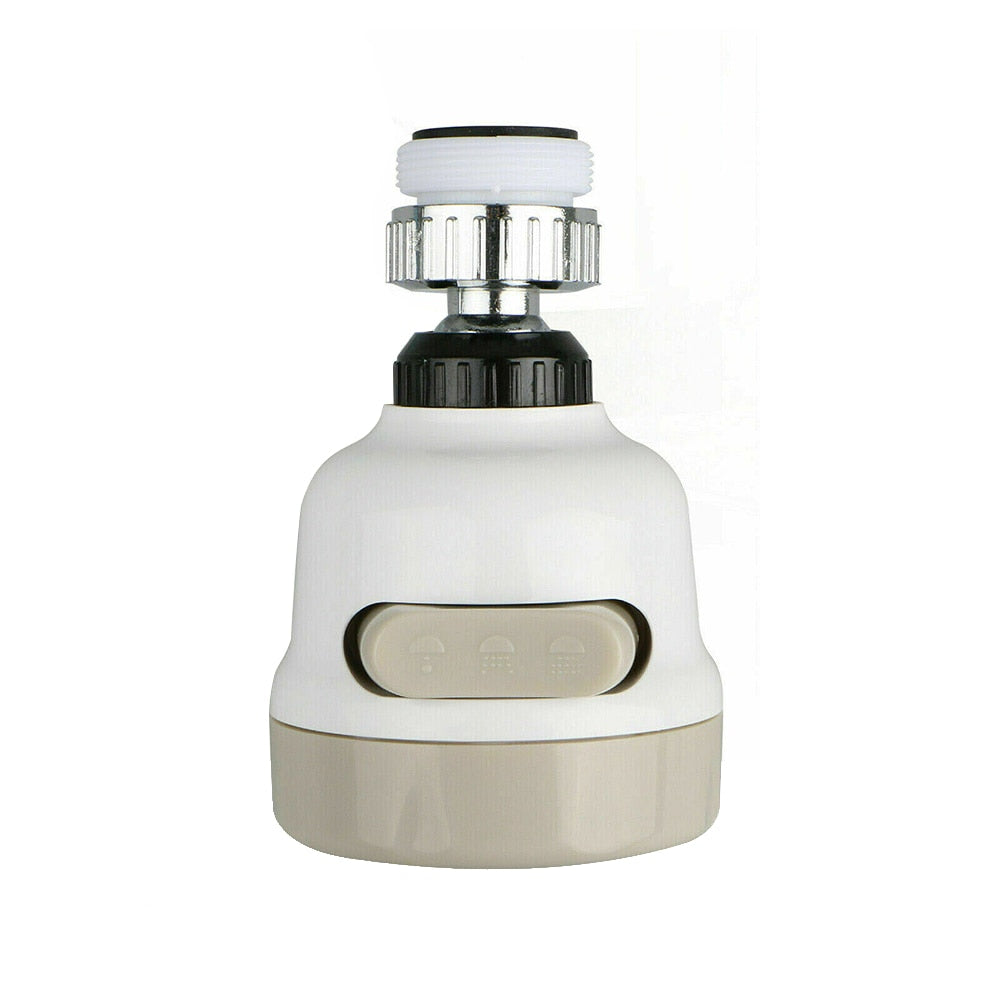 Moveable Kitchen Tap Head 360° Rotating Faucet Water Saving Filter Sprayer Tool White Tap Splash Regulators