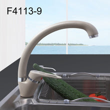 Load image into Gallery viewer, FRAP  Brass 5 color Kitchen sink faucet Mixer Cold And Hot Single Handle Swivel Spout Kitchen Water Sink Mixer Tap Faucets F4113