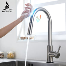 Load image into Gallery viewer, Kitchen Faucets torneira para cozinha de parede Crane For Kitchen Water Filter Tap Three Ways Sink Mixer Kitchen Faucet KH1005SN