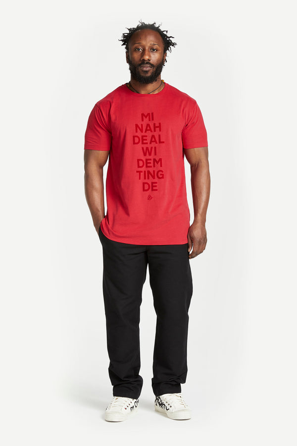 Mi Nah Deal t-shirt Red