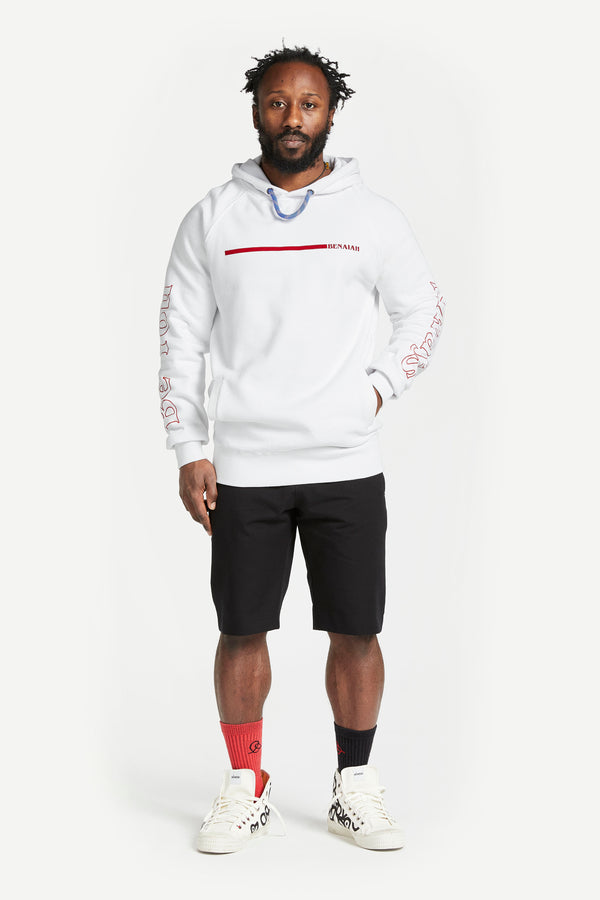Stripe Worlds Greatest Hoodie White