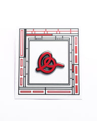 RED SIGNATURE ENAMEL PIN