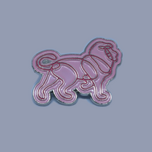 Load image into Gallery viewer, Lion Pin Badge - Yellow / Purple