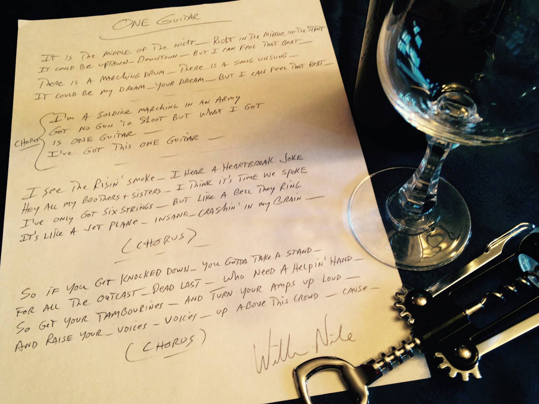 Handwritten & Signed Lyrics + Digital Download! (SOLD OUT)