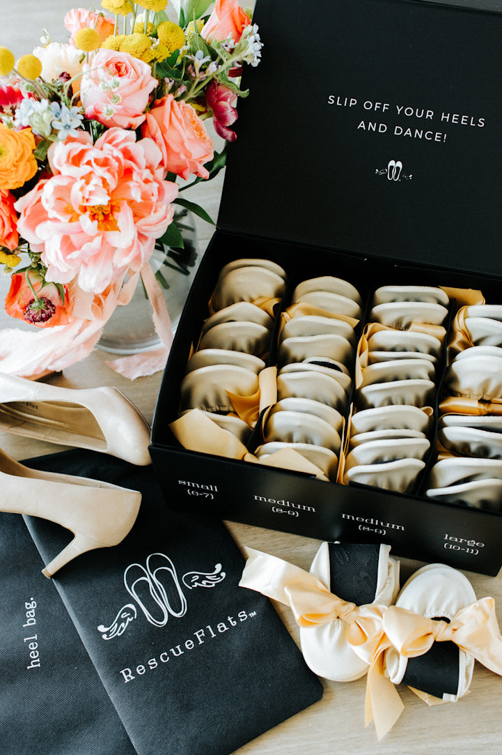 Rescue Flats | Foldable Ballet Flats Bulk Box Sets For Weddings