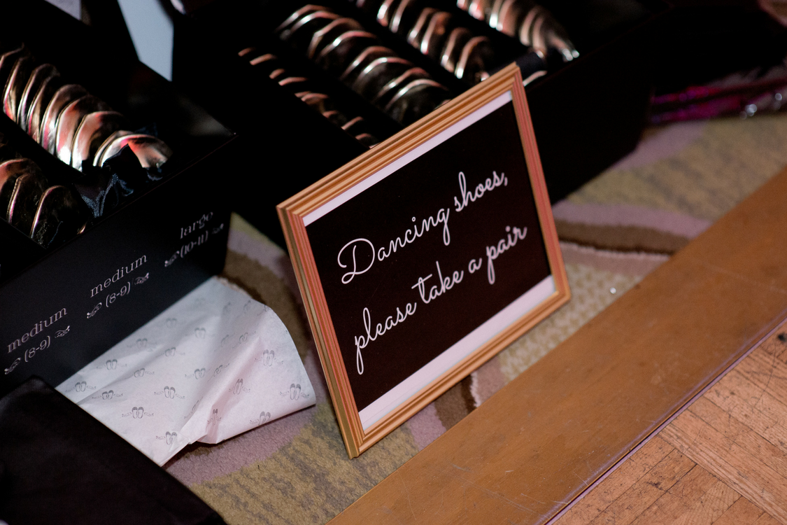 Dancing Shoes Please Take A Pair Wedding Sign
