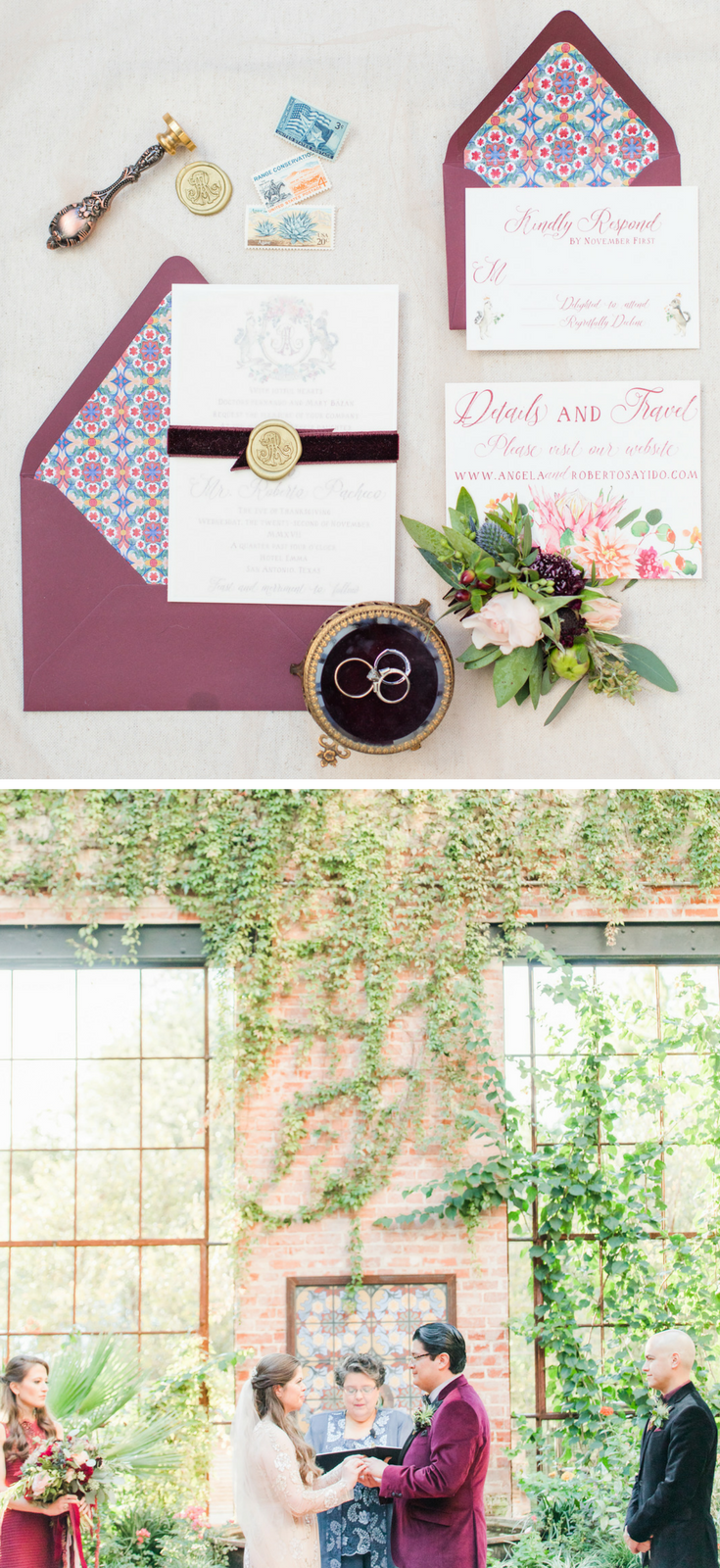 Fall Hotel Emma Wedding Details - San Antonio, Texas | Wedding Stationary Suite and Ceremony Location