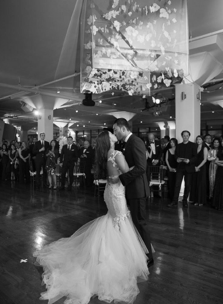Wedding dance floor at New York's Tribeca 360