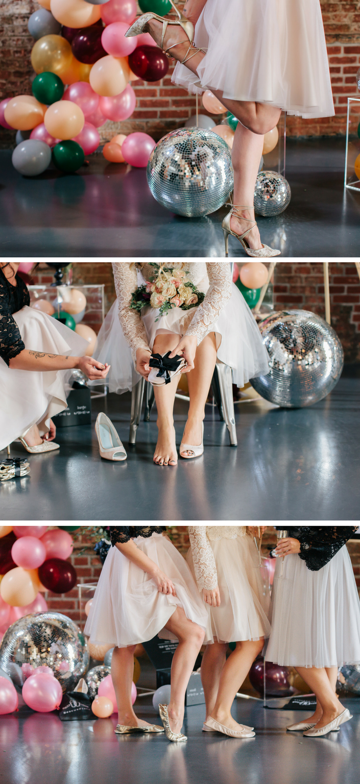 I just fell in love with this idea! I love to dance but I also like to look good and I find that heels are the only way to do that at a wedding or special event. What better way to go in looking great and then be able to DANCE ALL NIGHT with Rescue Flats?