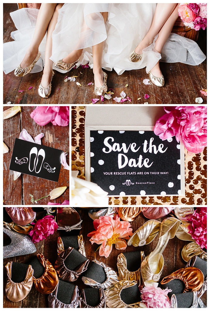Rescue Flats | http://rescueflats.com | Luxury Dancing Slipper Wedding Favors | Foldable Ballet Flats Available In Multiple Colors