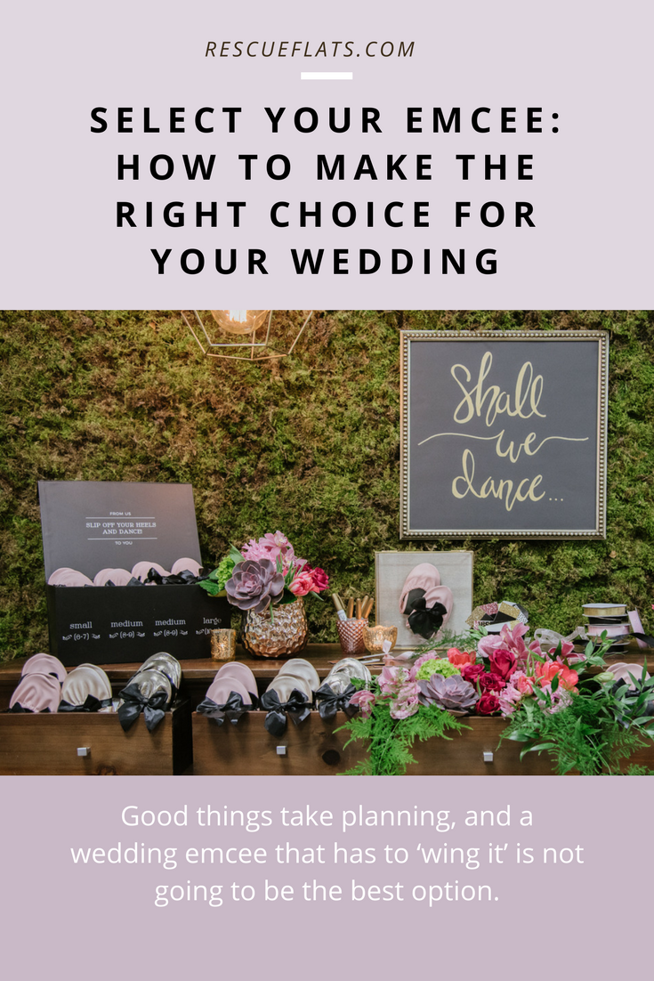 3 Tips To Help You Select A Wedding Emcee Rescue Flats