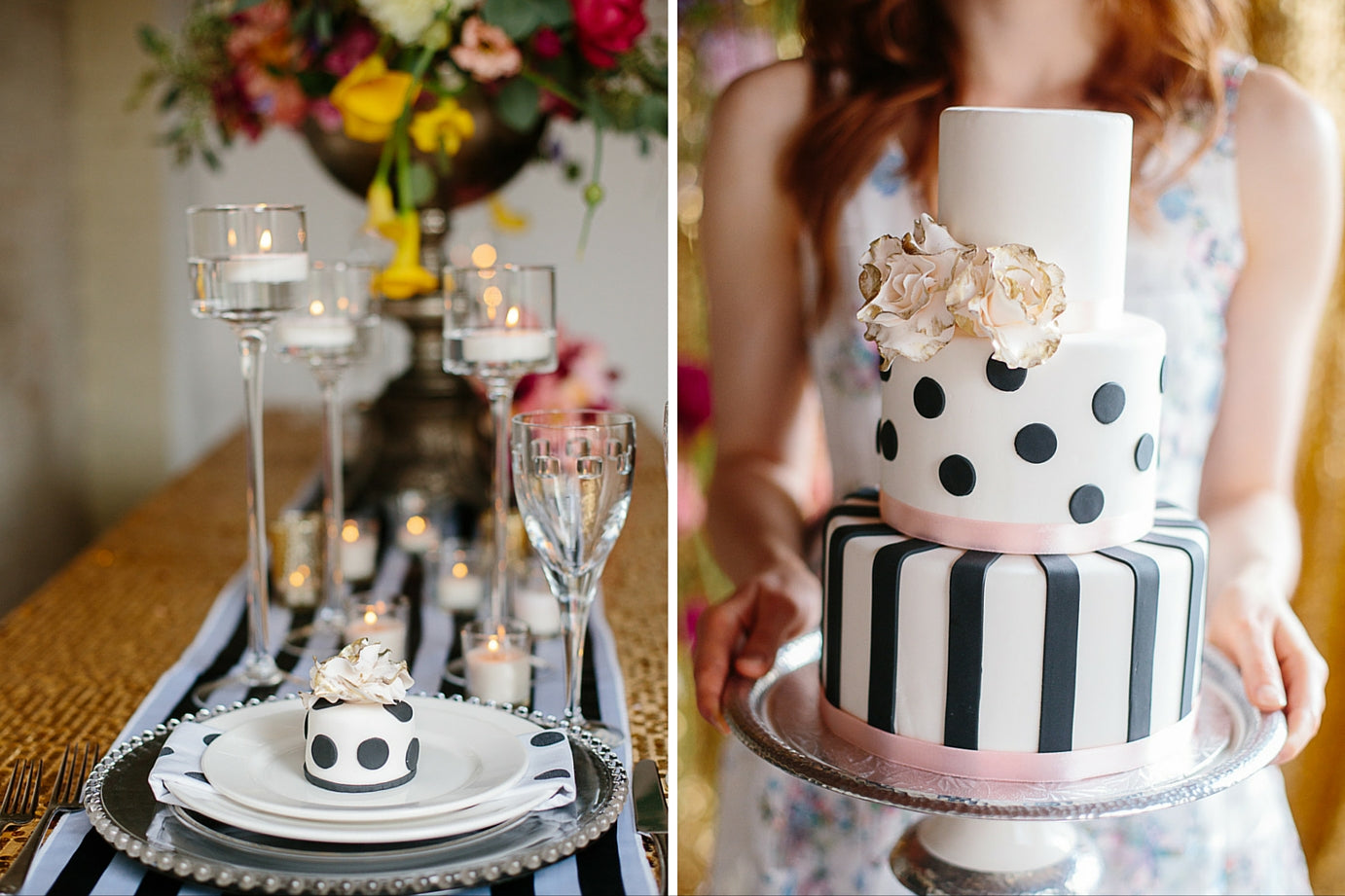 Rescue Flats | http://rescueflats.com/ | Kate Spade Inspired Wedding Cake | Cake by: The Art of Cake