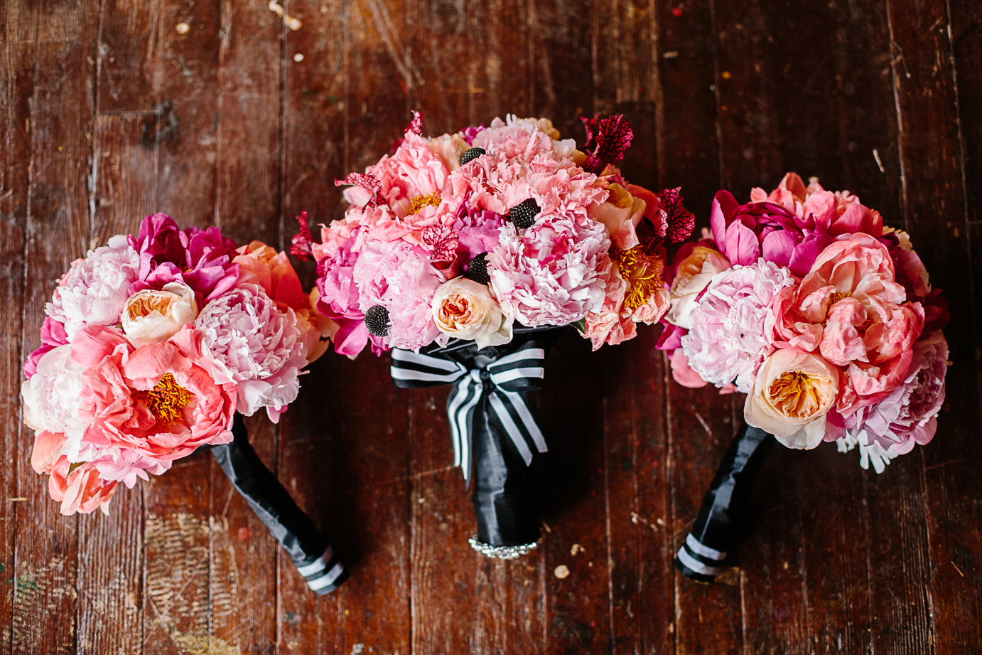Rescue Flats | http://rescueflats.com/ | Kate Spade Inspired Pink Wedding Bouquets | Floral Design: FaBLOOMosity