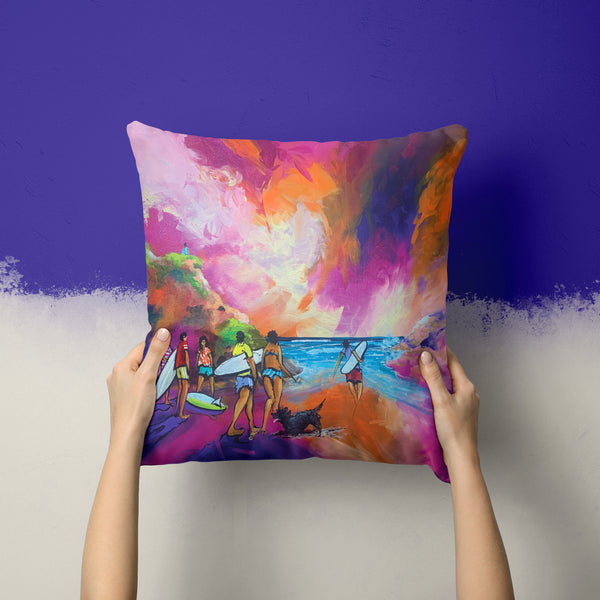 Breaking Sand - Sublimated Poly Linen Cushion