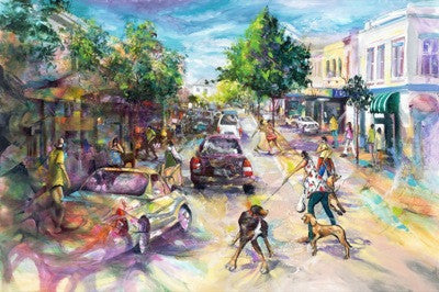 Mid Street Mayhem Limited Edition Print