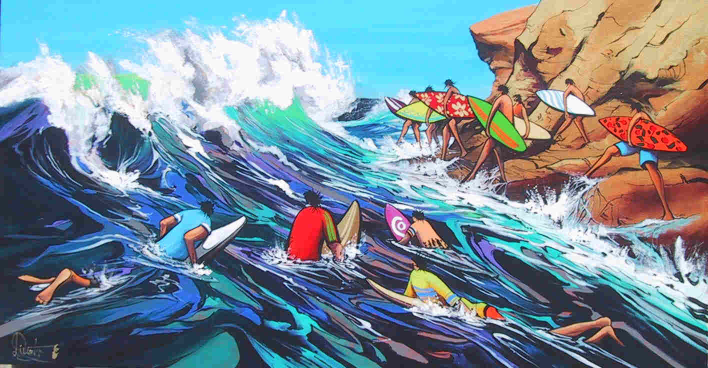 Surf Warriors Limited Edition Print